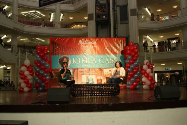 Kiera Cass being interviewed